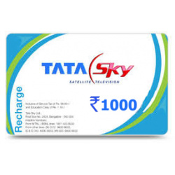 Tata Sky Recharge Rs. 1000